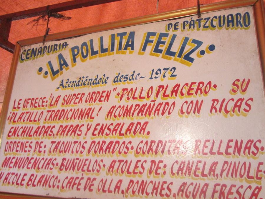 La Pollita Feliz Patzcuaro, Mexico Restaurant