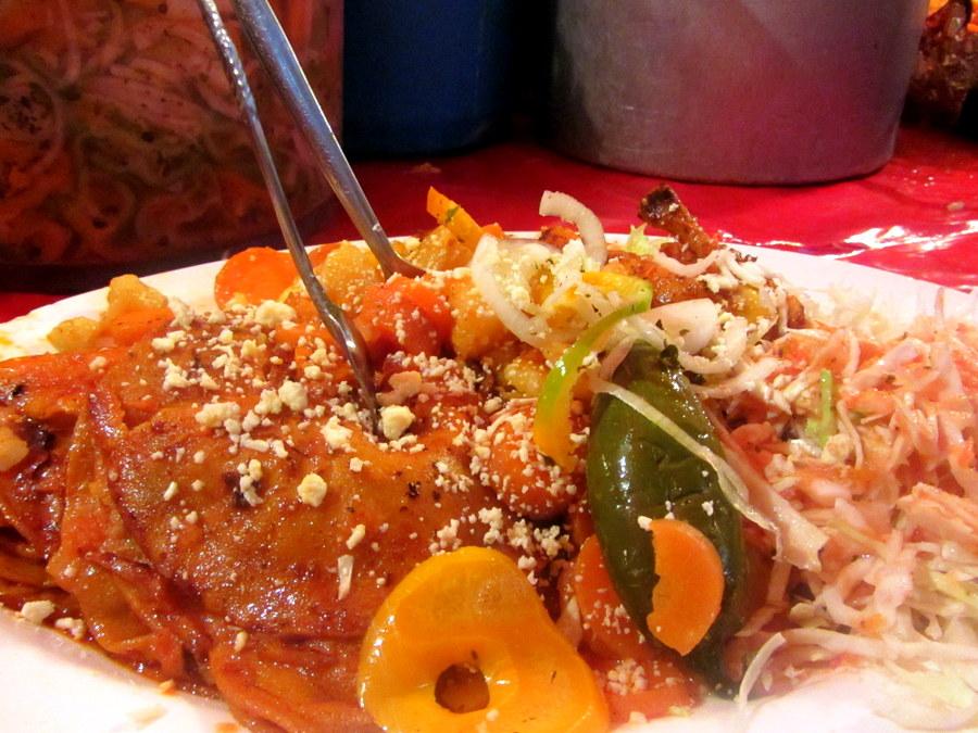 Chicken and Enchiladas at La Pollita Feliz