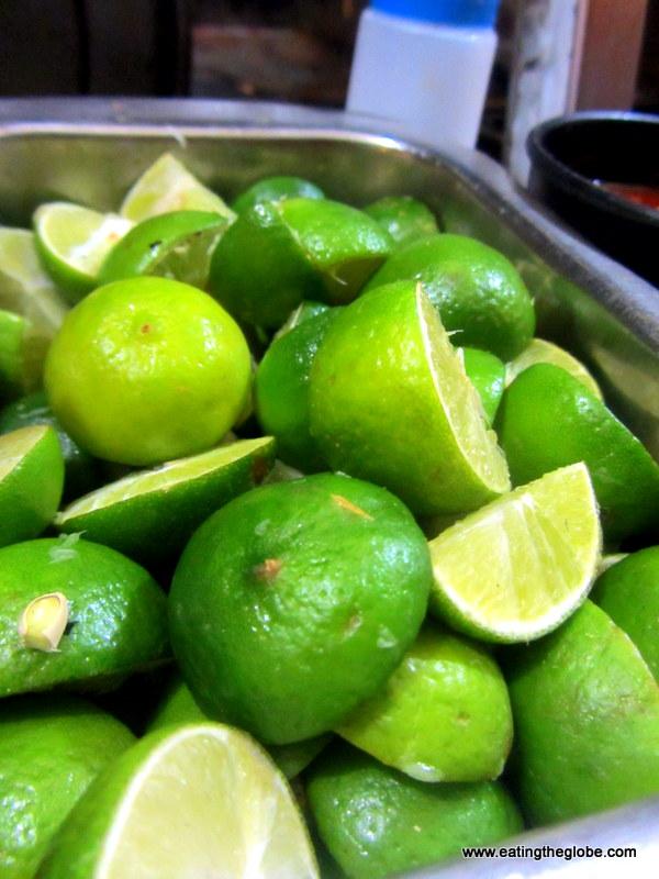 limes in San Miguel de Allende, Andy's taco cart