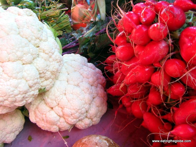 Radishes and Cauliflower
