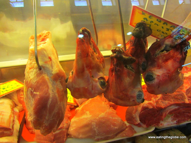 Lamb's heads in Chania Market
