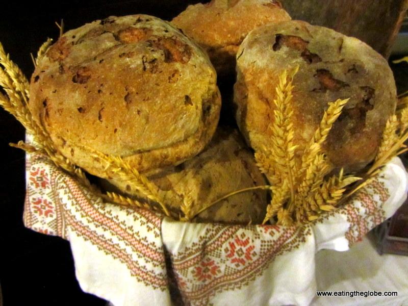 Bread from Chrisostomos Restaurant in Chania