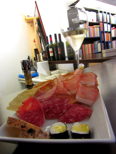 Meats and Cheeses with Prosecco