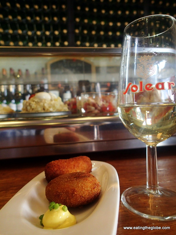 Croquettes and Dry Sherry Madrid food