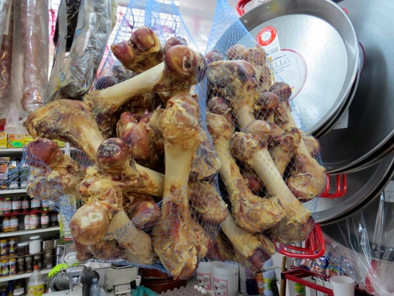 marrow bones at the San Juan Market