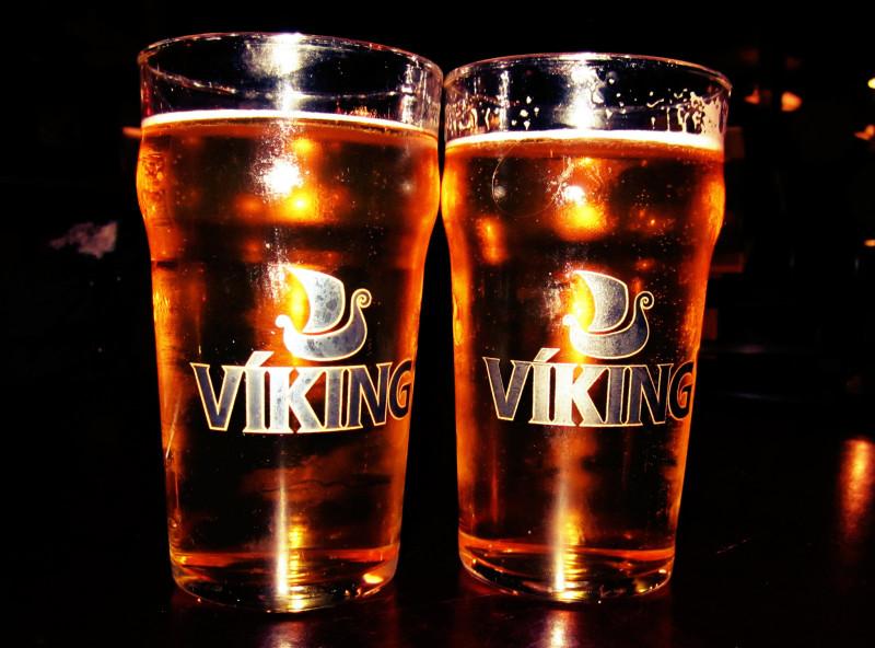 Iceland food Viking beer